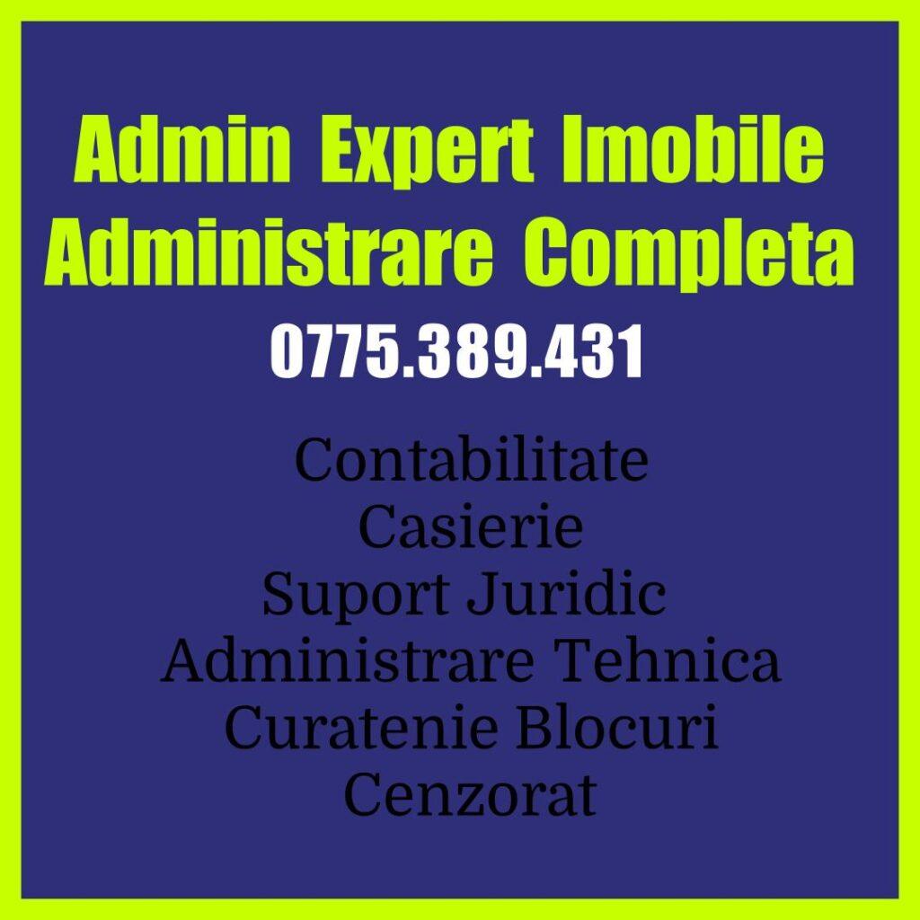 Contabilitate corecta si transparenta !   0775.389.431     Admin Expert Imobile Administrator Blocuri sec 4 Firma Administrare Imobiletor 4